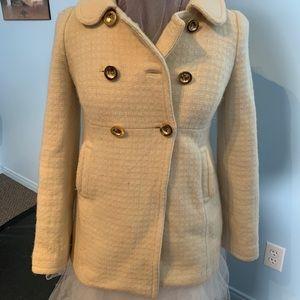 JUICY COUTURE cream pea coat